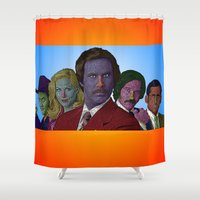 anchorman Shower Curtains featuring Anchorman by CultureCloth