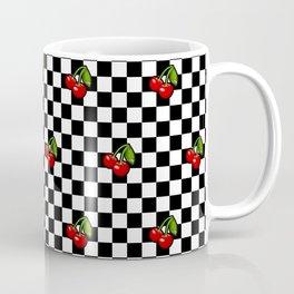 Checkered Cherries Coffee Mug