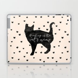 Reading Is The Cat's Meow Laptop & iPad Skin