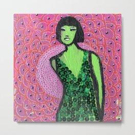 """""""Shocked in Pink"""" by Herta Metal Print"""
