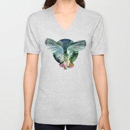 """Owl flight and spring night"" Unisex V-Neck"