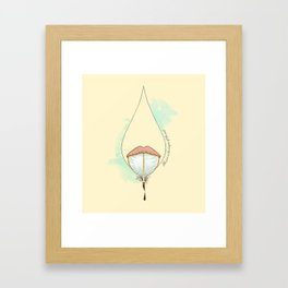The pen is the tongue of the soul Framed Art Print