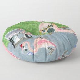 Yard Flamingo BBQ Floor Pillow