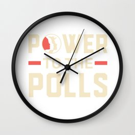 Power To The Polls Wall Clock