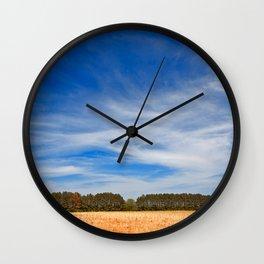 Wye Island Sky Field Wall Clock