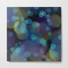 Pacific night bubbles Metal Print
