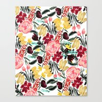 garden Canvas Prints featuring Wild Garden II by Bouffants and Broken Hearts