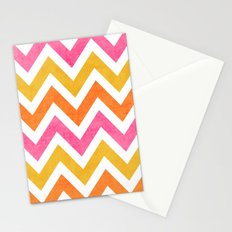 summer chevron Stationery Cards