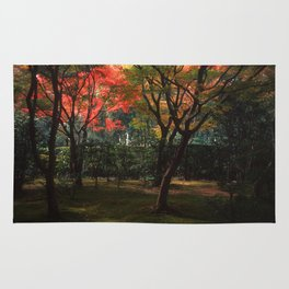 Early Autumn Trees Rug