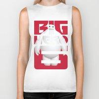 big hero 6 Biker Tanks featuring Baymax - Big Hero 6 by Nguyen
