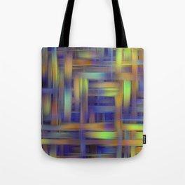 Multicolored wicker Tote Bag