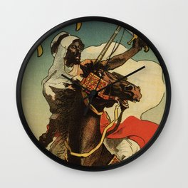 1887 Paris Desert Arabian expo advertising Wall Clock