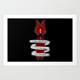Seether Rabbit Art Print