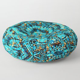 Inner Deck Gold and Turquoise Floor Pillow