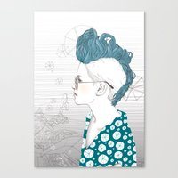 punk Canvas Prints featuring Punk by katiwo
