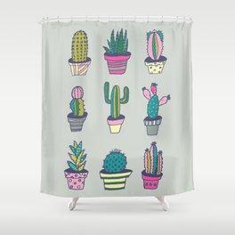 SUMMER CACTUS Shower Curtain