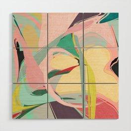 Shapes and Layers no.23 - Abstract Draper pink, green, blue, yellow Wood Wall Art