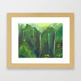 Ko'olau waterfalls Framed Art Print
