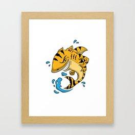 Tiger Shark T Shirt Tigershark Boys Men Kids Predators Gift Idea Framed Art Print