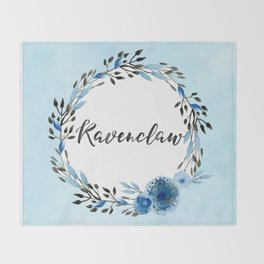 HP Ravenclaw in Watercolor Throw Blanket