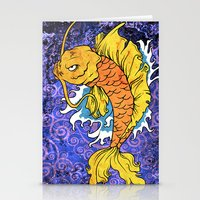 koi fish Stationery Cards featuring Koi Fish by Spooky Dooky