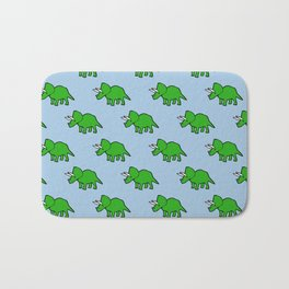 Cute Triceratops pattern Bath Mat