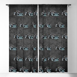 Classic Street Rod Pickup Truck Cartoon Blackout Curtain