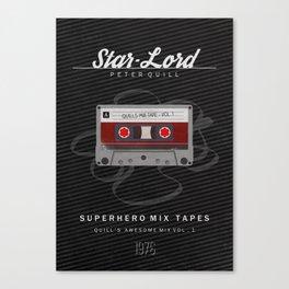 Superhero Mix Tapes - Star-Lord Canvas Print