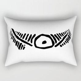 Taino eye graphic design in black and white Rectangular Pillow