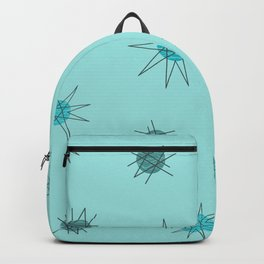 Atomic Age Starburst Planets Light Blue Backpack