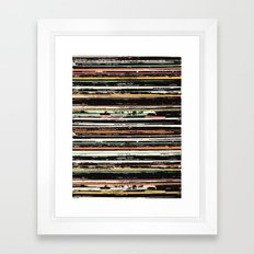 Recordsss Framed Art Print