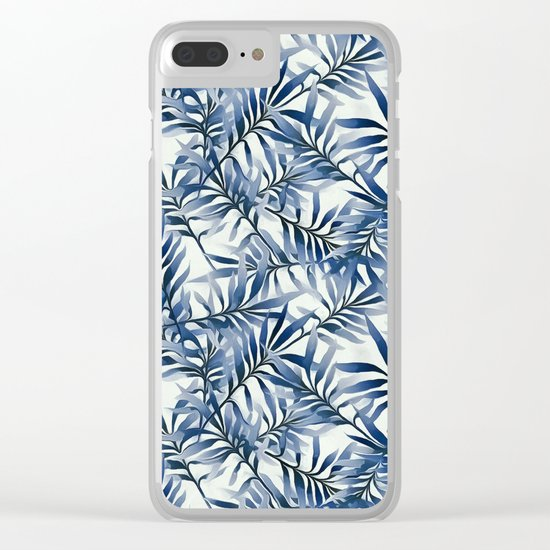 Indigo leaves Clear iPhone Case
