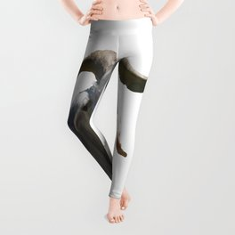 Portrait of a Horned Goat Grazing Vector Leggings
