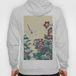 Hokusai (1760-1849) Bell-flowers and Dragonfly Hoody
