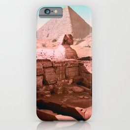 Temple Of The Sphinx - Cairo Egypt - Circa 1900 Photochrom iPhone Case