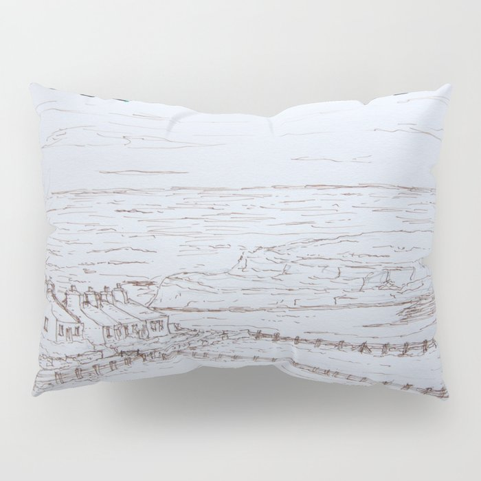 Clifftop cottages Moelfre Pillow Sham