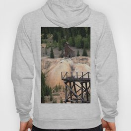 1880's Gold Rush - Mine Headshaft on Red Mountain from the Idarado Ore Cart Track Hoody