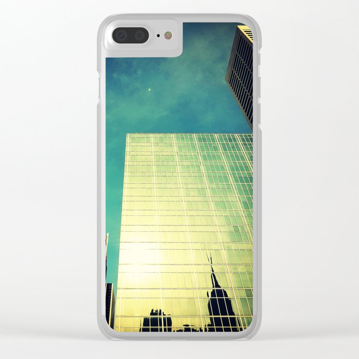 empire state reflection NY Clear iPhone Case