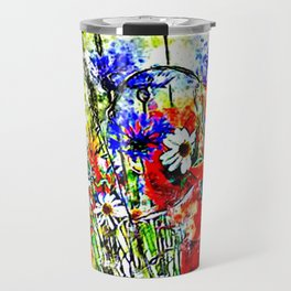Garden Chock Full of Flowers Travel Mug