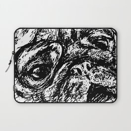 Sketchy Pug Laptop Sleeve