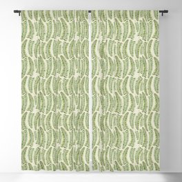 Palm leaves in tiger print Blackout Curtain