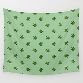 Cannabis Leaf (Mini) - Sage Wall Tapestry
