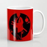 samurai Mugs featuring Samurai by Artistic Dyslexia