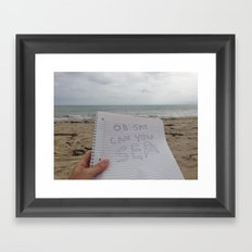 Oh Say Can You Sea? Framed Art Print