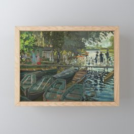 Bathers at La Grenouillere by Claude Monet Framed Mini Art Print
