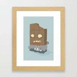 Zombie Crunch Bar Framed Art Print