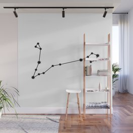 Pisces Astrology Star Sign Minimal Wall Mural