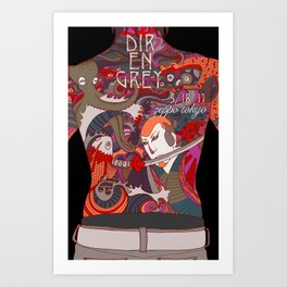 Dir en Grey Art Print