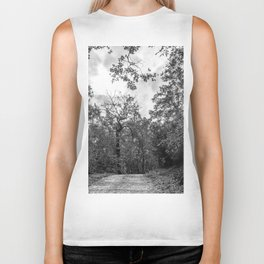 Black and white forest Biker Tank