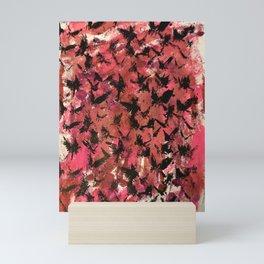 Birds on Setting Sky-Reds Mini Art Print